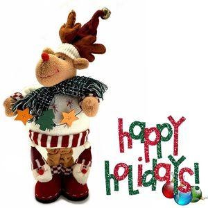 """18"""" Christmas Holiday Reindeer Plush Figure"""